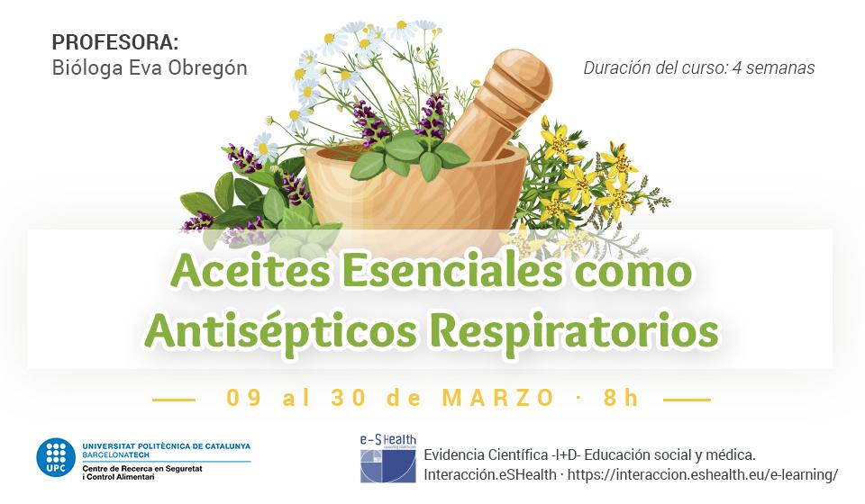 Curso Aceites Esenciales como Antisépticos Respiratorios